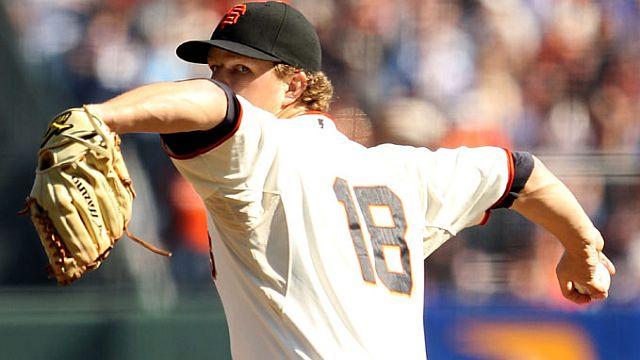 Matt Cain, lanzador de Gigantes de San Francisco