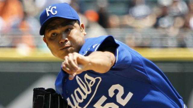 Bruce Chen, lanzador de Reales de Kansas City