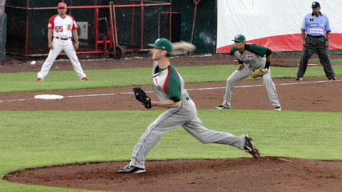 David Trahan, pitcher de Olmecas de Tabasco