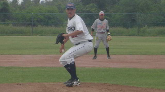 Julio Rivera, pitcher de REYLARLAG en la Liga Clase AA de la Academia LMB