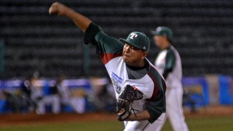 Leonardo González, pitcher de Olmecas de Tabasco