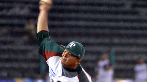 Leonardo González, lanzador de Olmecas de Tabasco