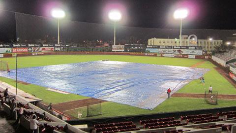 Lluvia en el estadio Beto Ávila de Veracruz