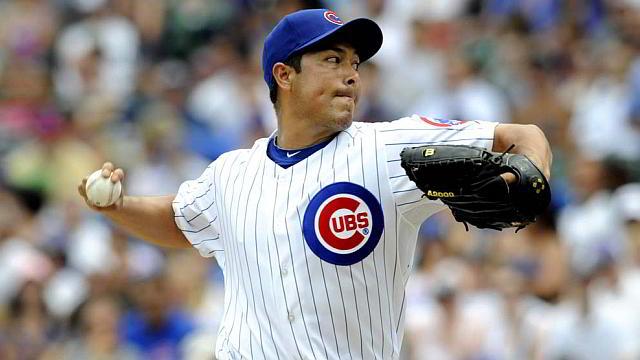 Rodrigo López, lanzador de Cachorros de Chicago