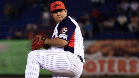 Francisco Córdova, pitcher de Tigres de Quintana Roo