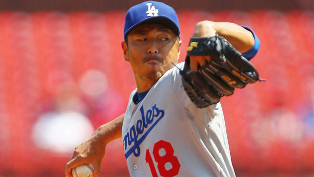 Hiroki Kuroda, pitcher de Dodgers de Los Angeles