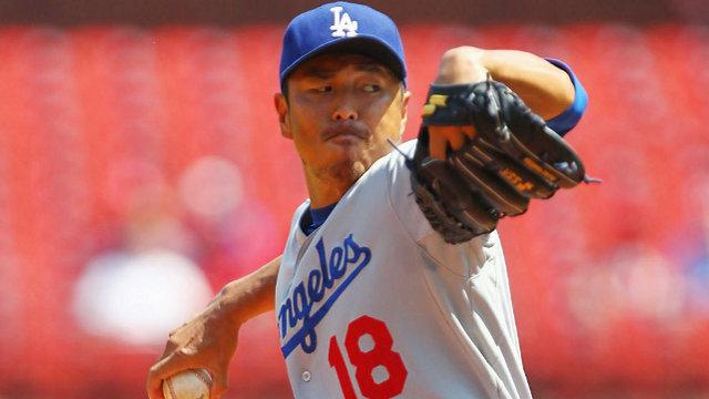 Hiroki Kuroda, pitcher de Dodgers de Los Angeles