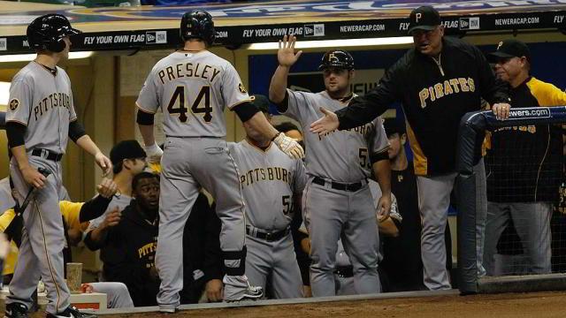 Alex Presley de Piratas de Pittsburgh