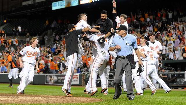 Celebración de Orioles de Baltimore