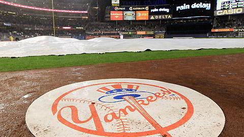 Lluvia en el Yankee Stadium