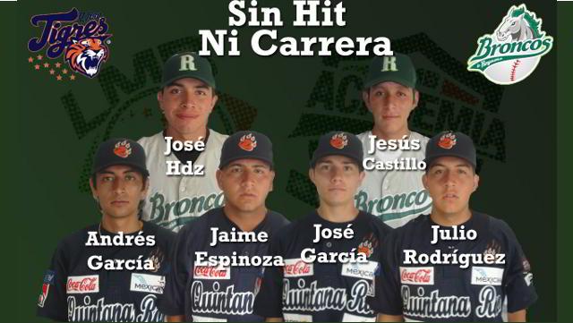 Pitchers de Quintana Roo-Reynosa que se combinaron para lanzar sin hit ni carrera