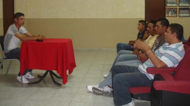 Taller de redacción en la Academia de la Liga Mexicana de Beisbol