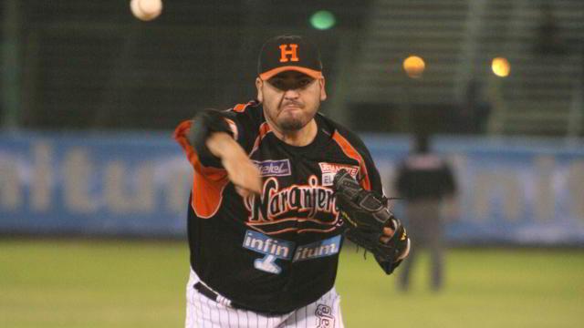 Edgar González, lanzador de Naranjeros de Hermosillo