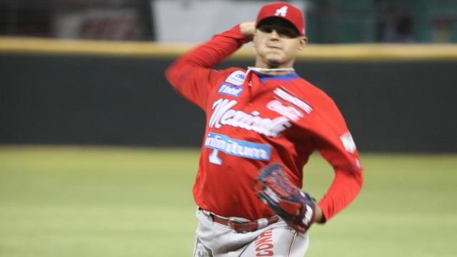Marco Duarte, pitcher de Águilas de Mexicali