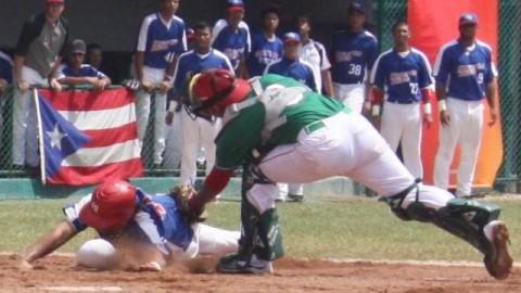 Jugada del duelo México-Puerto Rico en el Panamericano Juvenil 2011