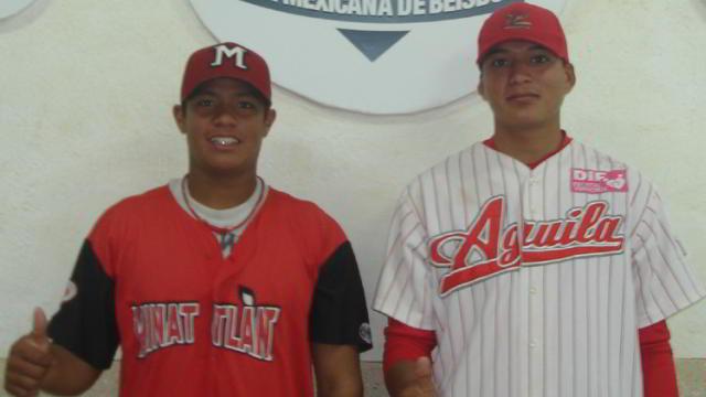Eduardo Santos y Pedro Ramírez de la Liga Rookie de la Academia de la Liga Mexicana