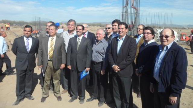Visita del Gobernador a la construcción del nuevo estadio de Naranjeros de Hermosillo