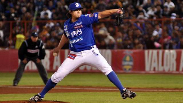 Luis Alonso Mendoza pitcher de Yaquis de Ciudad Obregón