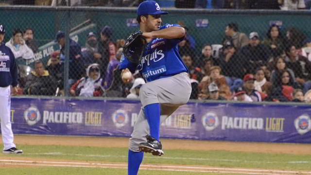 Rolando Valdez, pitcher de Yaquis de Ciudad Obregón
