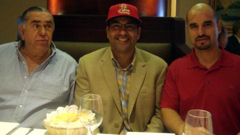José Antonio Mansur, Orlando Merced y Grimaldo Martínez de Rojos del Águila de Veracruz