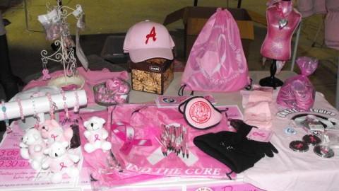 Souvenirs de Águilas de Mexicali para la lucha contra el cáncer de mama