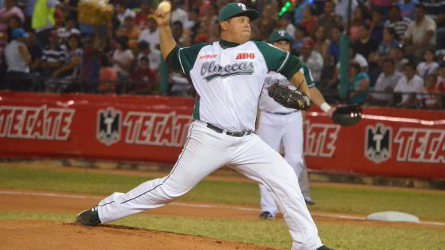 Leo González, pitcher de Olmecas de Tabasco