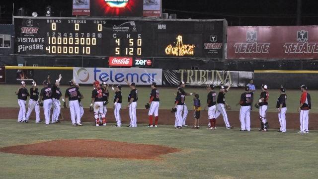Felicitación de Piratas de Campeche al vencer a Leones