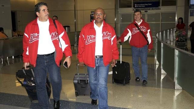 Eddie Díaz, Luis Fernando Méndez y José Luis Sandoval en Arlington, Texas