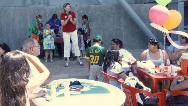 Festejo del Día del Niño del club Águilas de Mexicali de la Liga Mexicana del Pacífico