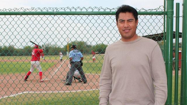 Noé Muñoz, catcher de Saraperos de Saltillo en la Academia de la Liga Mexicana