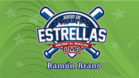 """Logotipo del Juego de Estrellas 2012 """"Ramón Arano"""" de la Liga Mexicana de Beisbol"""
