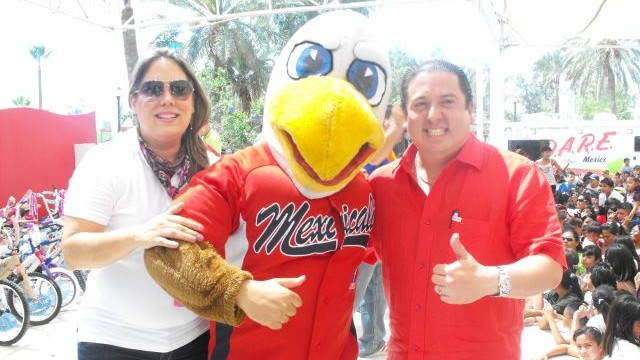 Lucho El Aguilucho, mascota de Águilas de Mexicali