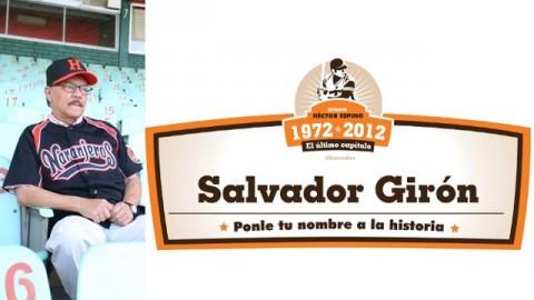 Salvador Girón, aficionado de Naranjeros de Hermosillo