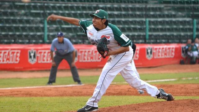Ángel Araiza, pitcher de Olmecas de Tabasco ante Rieleros
