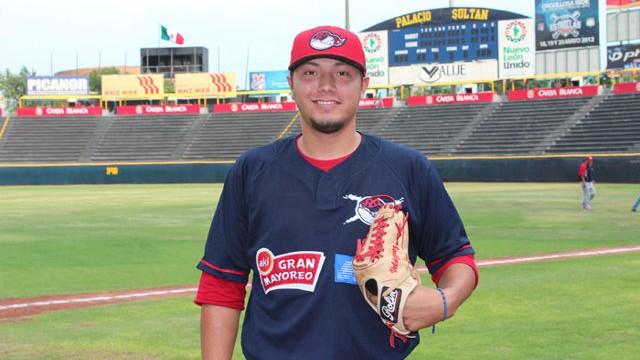 Héctor Velázquez, pitcher de Piratas de Campeche en Monterrey