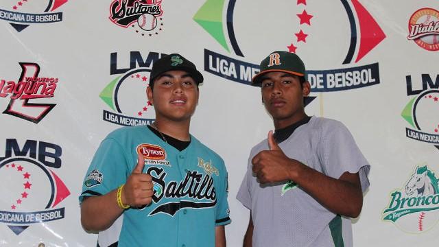 Noé Muñoz y José Melendrez de la Liga Clase AA de la Academia LMB